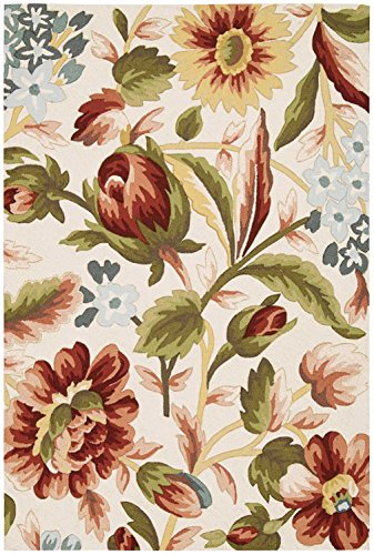 Nourison Fantasy FA23 Floral Area Rug Ivory 5 x 7 6 5 x 8 Green