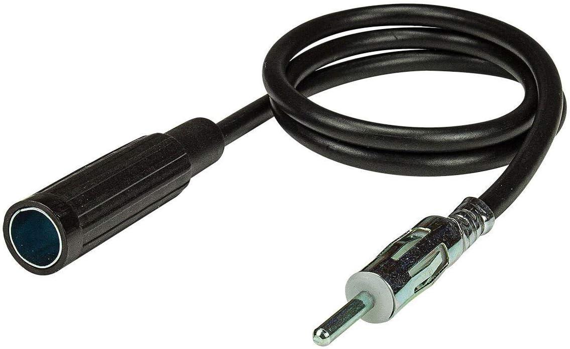 tomzz Audio /® 1600-003 KFZ Antennen Verl/ängerung Kabel 3m DIN Stecker auf DIN Buchse Kupplung Antennenkabel