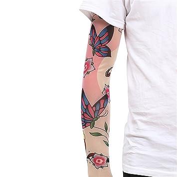 Lybcvad Manga De Tatuaje Manga De Hielo Brazo De Flores Tatuaje