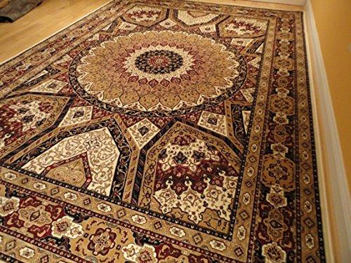 Silk Persian Qum Design Area Rug 7×10 Beige Antique Floral Carpet Ivory Rugs 6×9 Rugs  ...