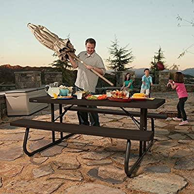 Lifetime Products 6 ft. Folding Picnic Table - Brown