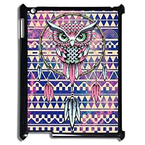 Ipad 4 Case,Aztec Cute Owl Dream Catcher Colorful Aztec Tribal Indians Pattern High Definition Wonderful Design Cover With Hign Quality Hard Plastic Protection Case