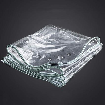 YFF-Lonas PVC Impermeable Lona Transparente Camping Espesar Tienda de campaña Polvo de construcción/Pintura/Hoja de Suciedad/Lluvia con Ojales 350gsm
