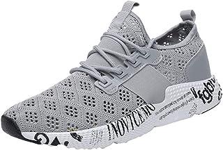 Chaussures ADESHOP Mode Sneakers Chaussures Hommes Surface Nette Respirant Ensemble De Pieds Les Loisirs Travail Sports Chaussures TisséEs Volantes LaçAge Confortable AntidéRapant Outdoor Couleur Unie