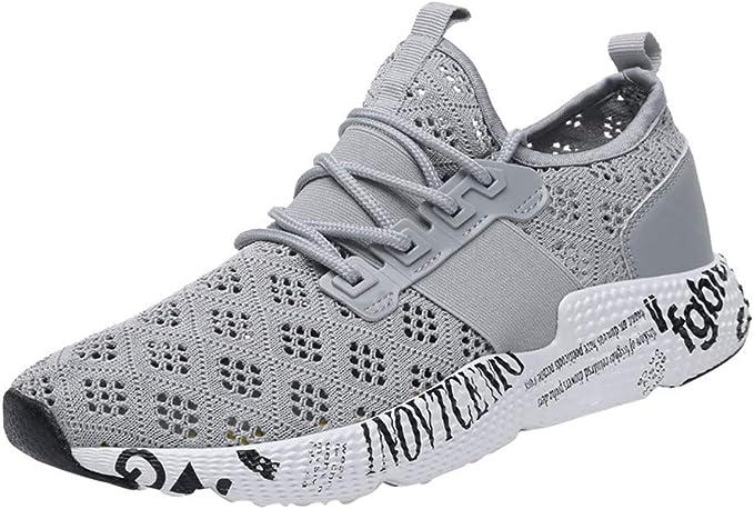IMJONO - Zapatillas de Running para Hombre, Antideslizantes, Transpirables y Transpirables Gris 45: Amazon.es: Ropa y accesorios