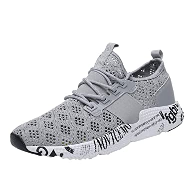 Amazon.com: Sport Shoes For Men,WEUIE Mesh Breathable Athletic Walking Running Shoes Lace-up Lightweight Sneakers: Clothing
