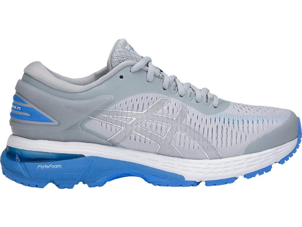 ASICS Women's Gel-Kayano 25 Running Shoes, 6M, MID Grey/Blue Coast