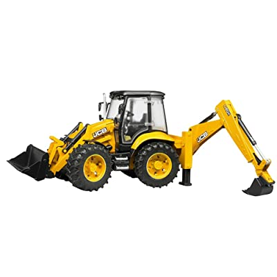 Bruder 02454 JCB 5CX Eco Backhoe Loader: Toys & Games