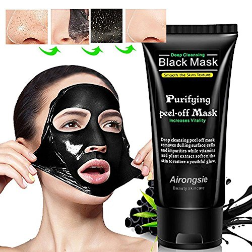 2018 Deep Cleansing Purifying Blackheads and Acne Peel-off Mask Black Mud Face Mask 50g by (Black Peel)
