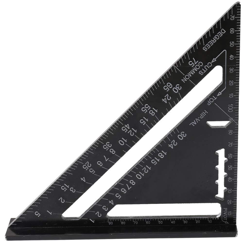 KKmoon Règle Triangle Alliage D'aluminium Rapporteur D'angle Carré à 90 Degrés 7 Pouces