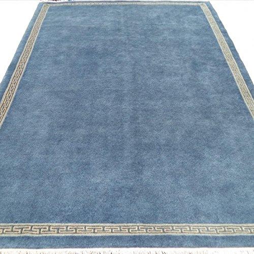 Orient Teppich Zen, Nepal Griff vollständig aus reiner Wolle, 241 x 172 cm mit Echtheitszertifikat