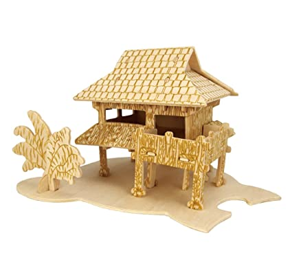 Super Buy Dai Bamboo Houses B Smilelove 3D Wooden Puzzle House Download Free Architecture Designs Rallybritishbridgeorg