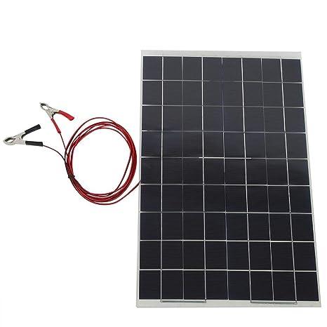 Cargador de panel solar, 30W 12V Panel de batería solar ...
