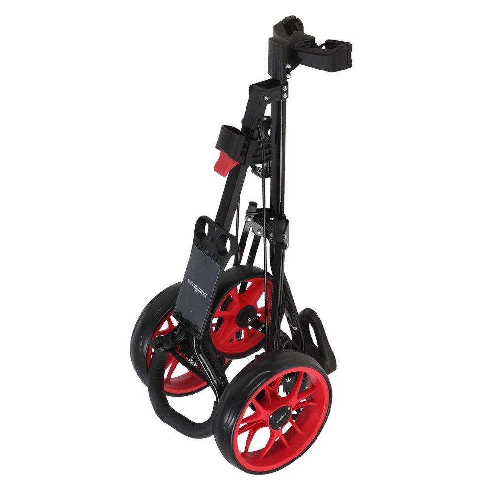 Caddymatic Golf Pro Lite 3 Wheel Golf Cart Black/Red by Caddymatic (Image #7)