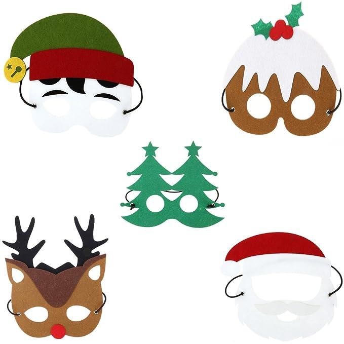 OULII Máscara de Navidad para niño Máscara de fiesta de Fieltro ...