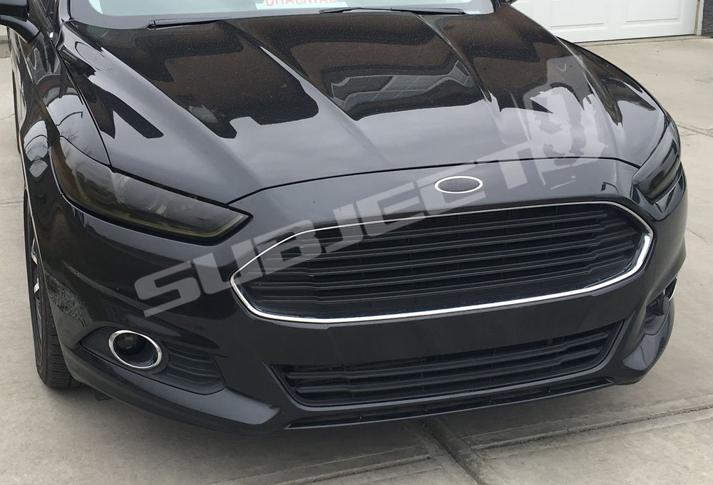 Subject 9 - Ford Fusion Pre-cut vinyl overlay Headlight PLUS tint kit (2013 2014 2015 2016) DARK