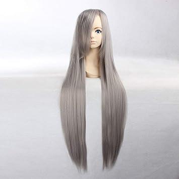 Amazon Com Hoolaza Dark Gray Extra Long Straight Wig