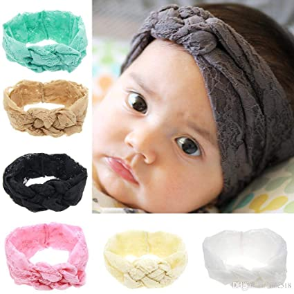 a1a1860c1 Amazon.in: Buy 2018 Hotest Princess Baby Girl Lace Floral Hairband Head  Wrap Knotted Hair Band Bebe Turbante Headwear Baby Hair Accessories Online  at Low ...