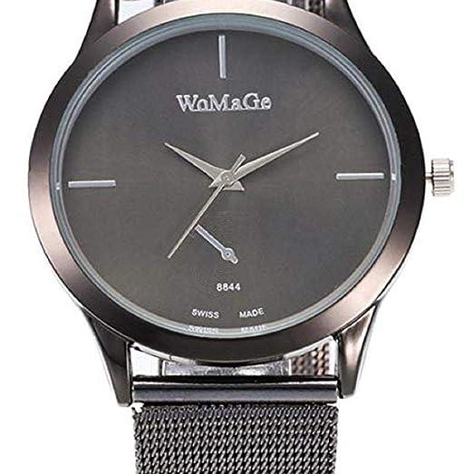 Scpink Relojes de Cuarzo para Mujeres, Relojes de señora de liquidación, Relojes analógicos de Acero Inoxidable para Mujer. (Negro): Amazon.es: Relojes