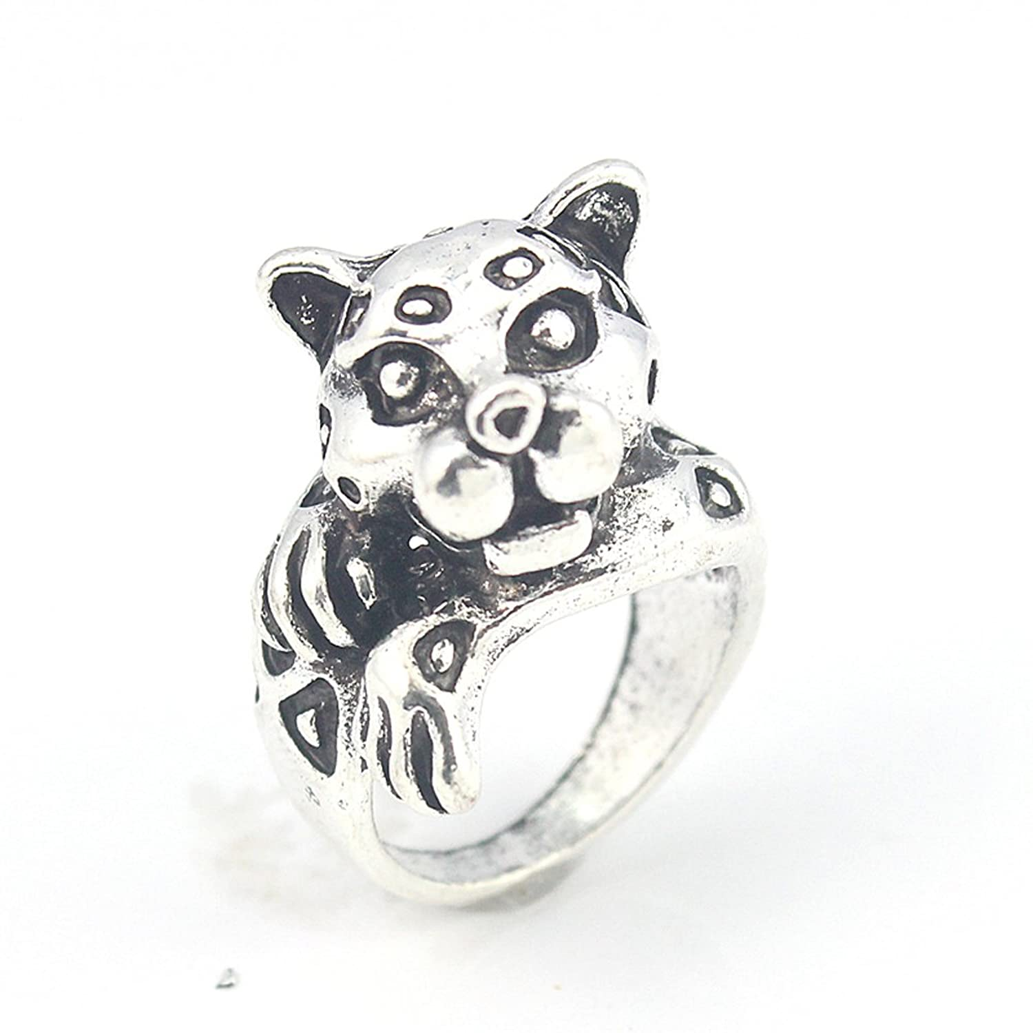 TIGER PLAIN FASHION JEWELRY .925 SILVER PLATED RING 6.5 S23634