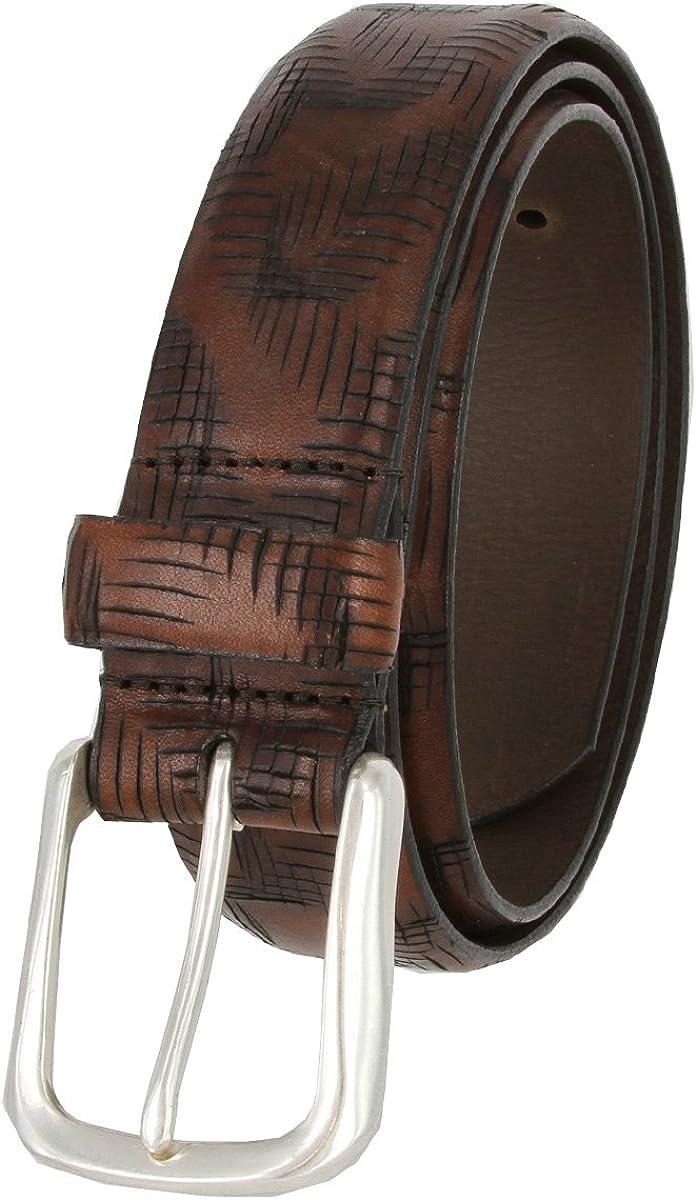 Lejon Criss Cross Style Italian Leather Casual Dress Belt 1-3//8 wide 18272