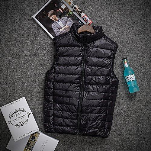 Vest BOZEVON Down Windproof Lightweight Waterproof Jacket Autumn amp; Outwear Coat Black Winter Sleeveless Down Zipper Mens 4URw4r6