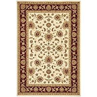 Safavieh Majesty Collection MAJ4781-1140 Traditional Oriental Cream and Red Area Rug (79 x 99)