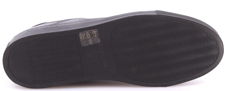 4cd09c511ac BELSTAFF Men's Shoes Sneakers 77800201 Wanstead Low Sneakers Man Black  Leather: Amazon.co.uk: Shoes & Bags
