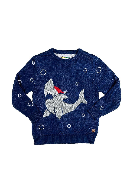 Youth Cute Shark Christmas Sweater - Kids Ugly Xmas Sweater