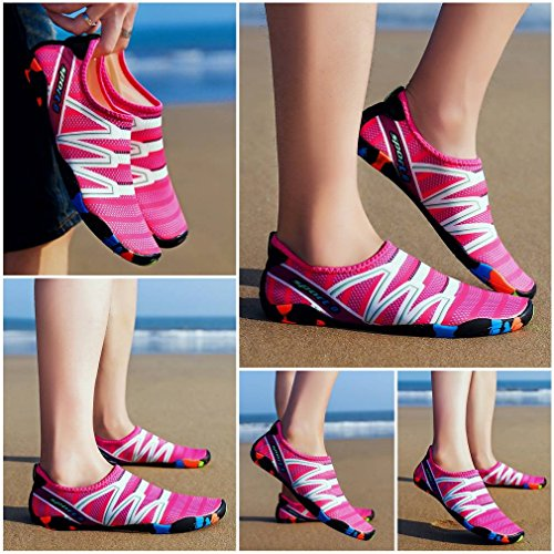 Dry Quick Shoes Water Socks Beach Burgandy Unisex Breathable COMVIP Barefoot Aqua xqY0Hw