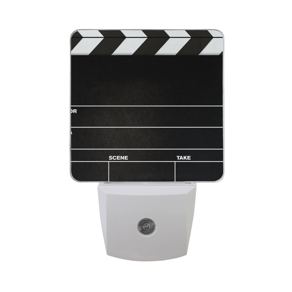 LEDVIE Movie Clapboard Plug in Dusk to Dawn Light Sensor LED Night Light Wall Light for Bedroom, Baby's Kids Room,Hallway, Stairs, Energy Efficient