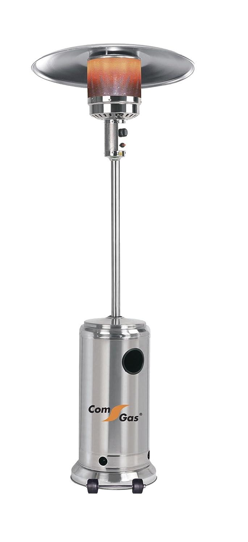 Com Gas 65100 65100-Estufa Exteriores con Monomando, Cuerpo en Acero Inoxidable, 43x88x43 cm: Amazon.es: Jardín