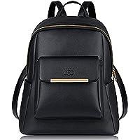 Wynn Fashion Girl's Synthetic Backpack (Black)