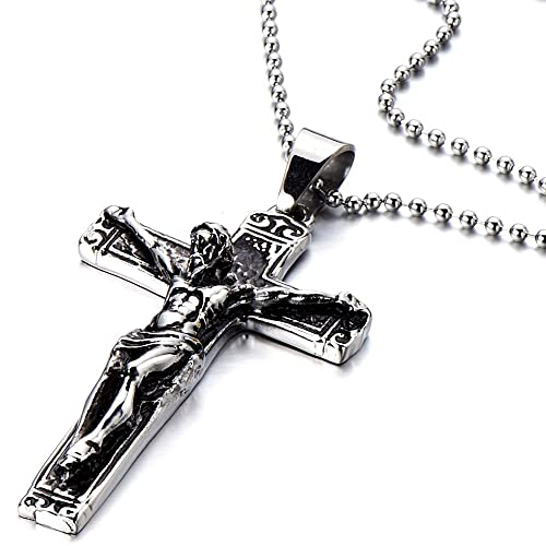 Finest Amazon.com: Stainless Steel Gothic Crucifix Cross Necklace Pendant  OR73