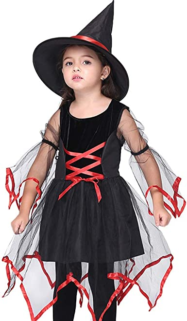 Elegante Falda De Princesa Niña Chica Halloween Cosplay Bruja ...