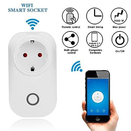 VING Reservorio WiFi Smart Socket, Wireless Electrical Intelligent Outlet mobile Voice Remote temporizador Control Socket
