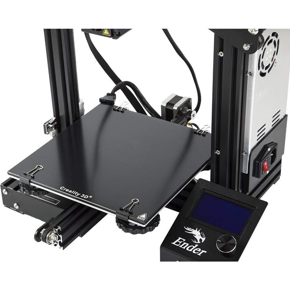 Placa de vidrio para Wanhao i3 Anet a8 Anycubic Plataforma de impresora 3D Superficie de construcción de cama caliente caliente Placa de vidrio ...