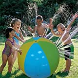 Kids Outdoor Toys Inflatable Water Spray Ball Outdoor Fun Toy for Hot Summer Swimming Party Beach Pool Play Children Kids Beach Ball Sprinkler