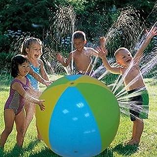 Lucky Shop1234 Beach Ball Sprinkler, Inflatable Water Sprinkler, Splash and Spray Ball for Kids Slip and Slide