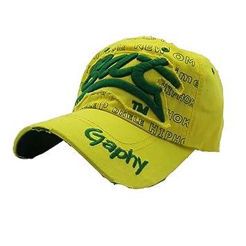 Malloom Bat GAPHY Letras Bordadas Verano Gorras Sombreros para Hombres Mujeres Casual Sombreros Hip Hop Gorras (Verde): Amazon.es: Deportes y aire libre
