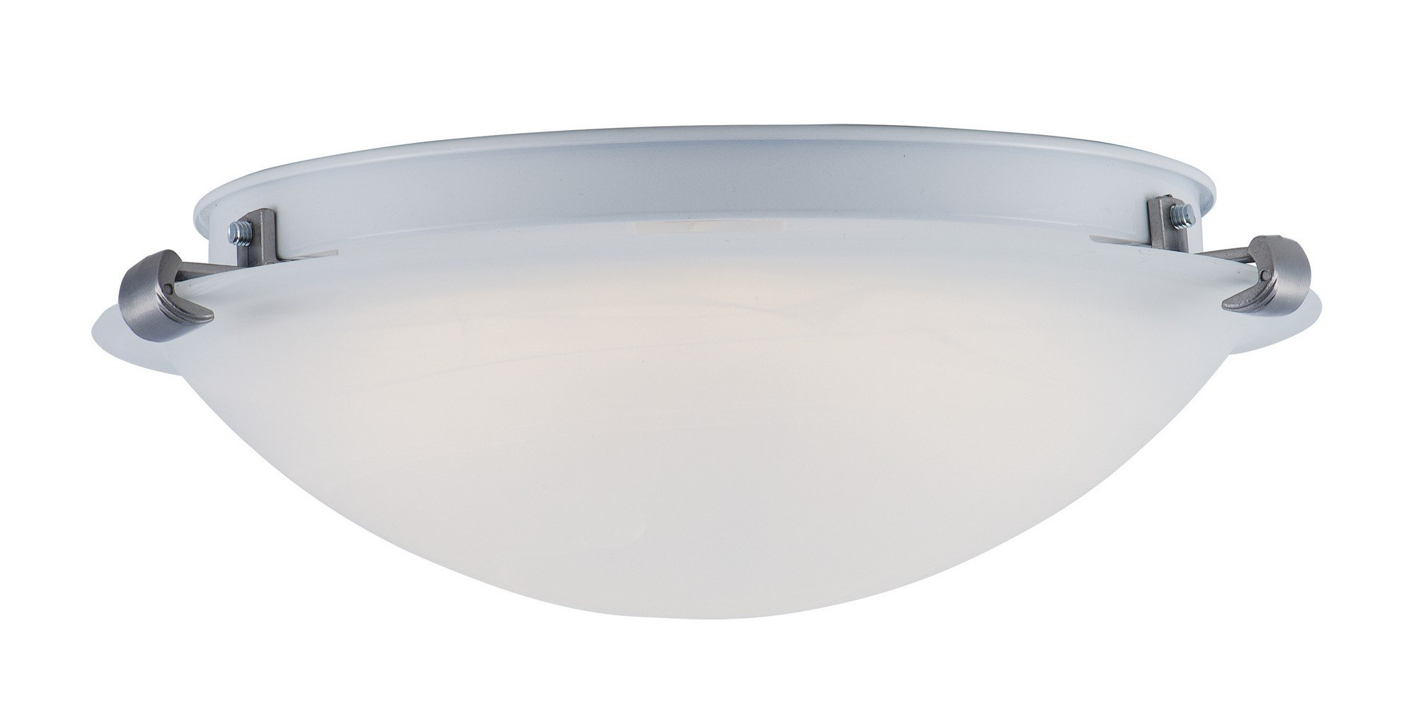 Maxim 55525FTSN Essentials LED Flush Mount, Satin Nickel Finish, Frosted Glass, LED Bulb , 40W Max., Wet Safety Rating, Standard Dimmable, Glass Shade Material, 2016 Rated Lumens