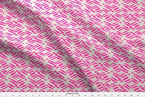 ni Stripe Samba by Holli Zollinger Printed on Sport Lycra Fabric by the Yard by Spoonflower (Samba Stripe)
