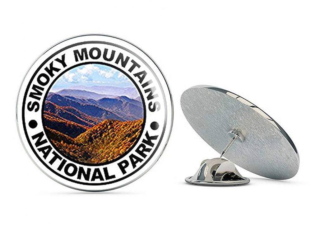 NYC Jewelers Round Smokey Mountains National Park (Hike Hiking Great) Metal 0.75 Lapel Hat Pin Tie Tack Pinback