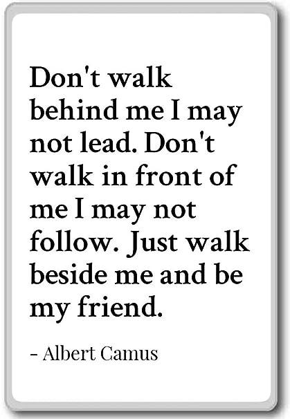 Dont Walk Behind Me I May Not Lead Dont Wal Albert Camus