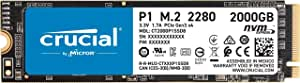 Crucial P1 2TB M.2 (2280) NVMe PCIe SSD - 3D NAND 2000/1700 MB/s Acronis True Image Cloning Software 5 yrs wty