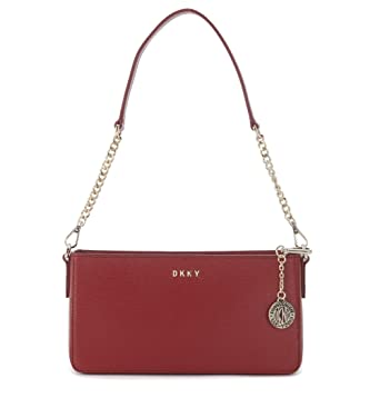 0a38f8683304 DKNY red saffiano shoulder bag with shoulder strap  Amazon.co.uk  Clothing