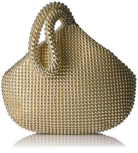 Jessica McClintock Women's Staci Mesh Wristlet Pouch, Light Gold