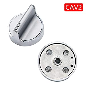 AMI PARTS W10594481 CAV2 with Printing Range Surface Burner Knob Compatible with Whirlpool Stove