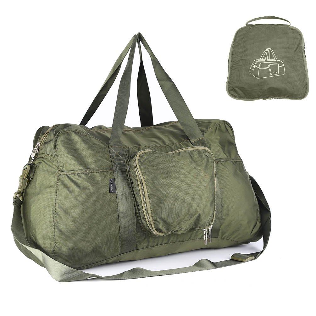 Oleader 40L Foldable Travel Duffel Bag Lightweight Sports Duffel for Luggage Gym