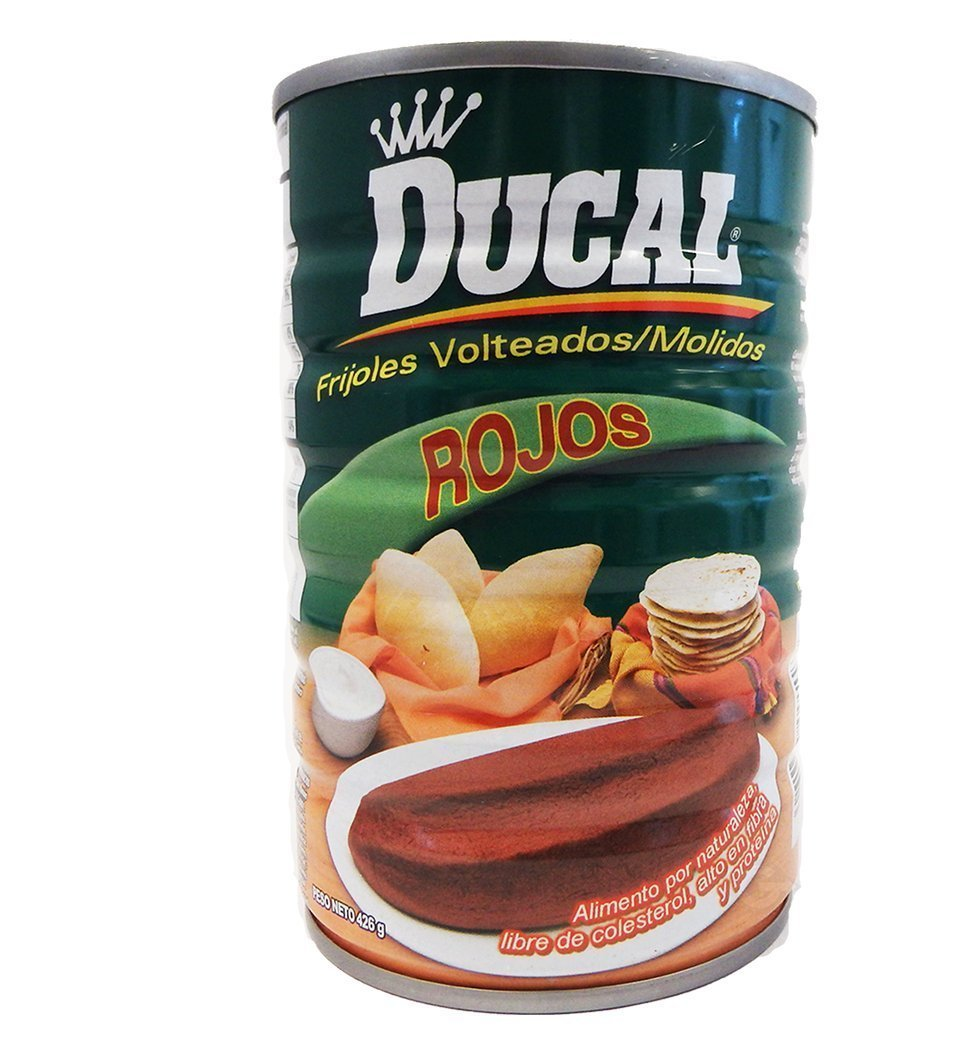 Ducal Refried Red Beans 15oz   Frijoles Volteados Rojos (Pack of 02)